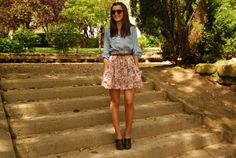 denim + flowers + clogs - Lovely Pepa by Alexandra