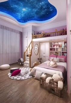 Children's bedroom decor and room design for two children are an important element of creating functional and comfortable home. Small Room Design Bedroom, Kids Bedroom Designs, Kids Room Design, Room Ideas Bedroom, Home Room Design, Room Kids, Childrens Bedroom Decor, Bedroom Decor For Teen Girls, Cool Rooms