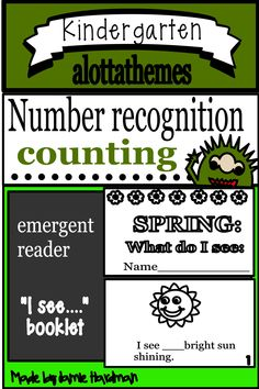 This COUNTING AND NUMBERS resource is a fun package that is great for this time of year. Your students have practiced and developed skills over the year and now can work independently and this resource will fit in perfectly! Number Activities, Alphabet Activities, Subitizing, Reading Practice, Emergent Readers, Number Sense, Learning Through Play, Teaching Kindergarten, Math Skills