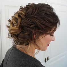 loosely braided bridal updo