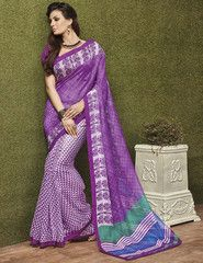 Purple Color Soft Super Net Kitty Party Sarees : Minal Collection  YF-41563