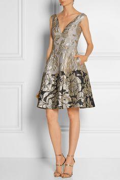 Lela Rose Metallic matelassé dress NET-A-PORTER.COM, $1795, 80/11/9 poly silk nylon, silk lining