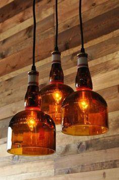 Recycled Bottle Gran Marnier Chandelier