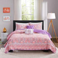 Intelligent Design Stella 4-5 Piece Comforter Set in Pink