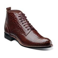 stacy adams madison anaconda print ankle chukka boot printed leather biscuit toe