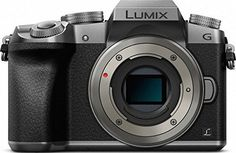 """Panasonic Lumix DMC-G7 Mirrorless Micro Four Thirds Digital Camera (Silver Body Only) - International Version (No Warranty). 16 MP Live MOS Sensor Venus Engine 9 Image Processor. Micro Four Thirds System 2.36m-Dot OLED Viewfinder. 3.0"""" 1.04m-Dot Free-Angle Touchscreen 4K UHD Video Recording at 30/24 fps. Built-In Wi-Fi Connectivity Up to 8 fps Shooting with AF & ISO 25600. DFD AF System, 4K Photo Modes."""