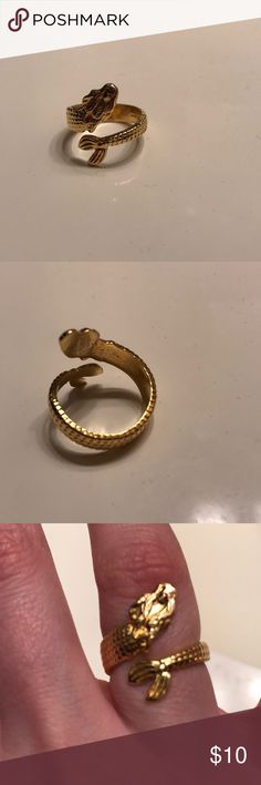 Alex and Ani Mermaid ring This gold-plated ring is a detailed mermaid! It has rarely been worn. Alex & Ani Jewelry Rings