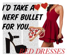 """""""Red"""" by i-was-promised-cookies ❤ liked on Polyvore featuring Akira Black Label, Steve Madden and Betsey Johnson"""