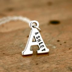 New name initial necklace! Great birthday or #bridal gift!