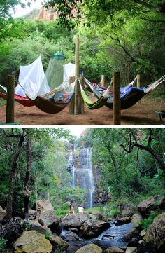 A magical place of tranquility in Limpopo. #limpopo #waterfall #magicalplace #hammock