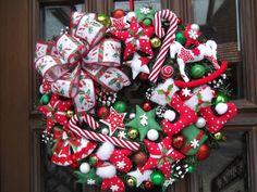 Türkranz,Weihnachten,Weihnachtskranz Rot-Grün-Weiß,Tilda-Art   eBay