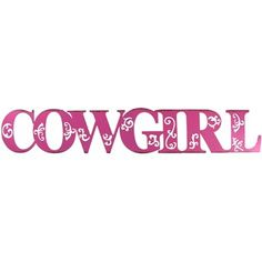 """23"""" Pink Cowgirl Iron Word 