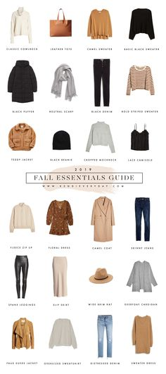 Kendi Everyday fall essentials guide Source by annasbookmarks clothing essentials Fall Wardrobe Essentials, Fall Capsule Wardrobe, Fashion Essentials, Winter Essentials, Outfit Essentials, Travel Essentials, Capsule Outfits, Fashion Capsule, Fashion Outfits
