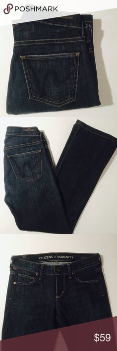 Citizens of Humanity Delia Pebble Bootcut Jeans Size 24 Citizens of Humanity Delia Pebble Bootcut Jeans. 29 inch inseam. Perfect Condition without flaws.   All items come from a smoke free home and are shipped on the same or following day an order is placed.   Reasonable offers are considered and often accepted. Deals on bundles are also available.   Items are shipped in polymailers placed INSIDE boxes to ensure all purchases are completely protected from damage or weather conditions…