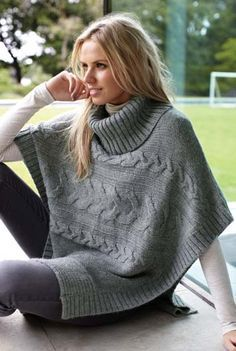 Cable Poncho inspiration