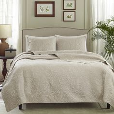 Adorned with a textured paisley design, this elegant coverlet set brings resort-worthy appeal to your guest room or master suite.       P...