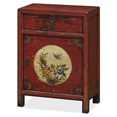 China Furniture Online Tibetan Style Nightstand Cabinet W Asian Painted