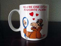 "Vintage ALF Alien Life Form Coffee Cup Mug - Alien Productions 1987 TV Television - ""You're One Of My Favorite Aliens"" by fromThePeddlersCart on Etsy"