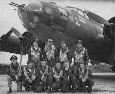 "B-17 ""Ol' Ironsides"" and Crew"
