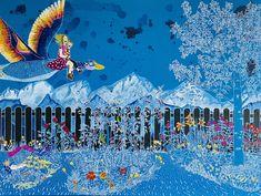 """Aquarelle sur toile - 101X76cm - """"Bouffée d'oxygène"""" Creations, Watercolor Painting, Canvas, Crafts, Paint"""