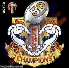 "Denver Broncos SUPER BOWL 50 CHAMPIONS Decal Sticker FULL COLOR Car 5""-11"" DBC2"