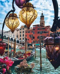 Lovely Venetian Glass Lanterns, Venice.