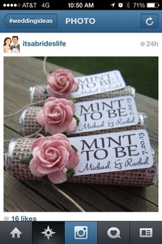 Easy wedding favors....staying with the rustic theme with the burlap....change flower color to using all 3 colors of pale yellow, lavender, & royal purple....inexpensive to make