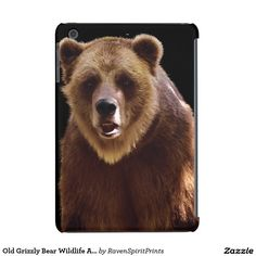 Old Grizzly Bear Wildlife Animal Lover iPad mini Device Cases and more!