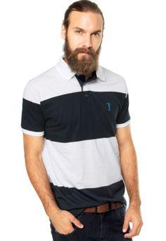 [Melhor que a Penguin?] Camisa Polo Aleatory Logo Azul/Branca - Dafiti - 59,90+frete justo
