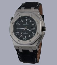 Audemars Piguet Royal Oak Offshore Wempe Automatic Movement Black Dial with Silver Case and Black Leather Strap
