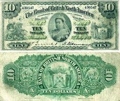 10 Dollars Canada's BanknotePick: Date: 1889 Army Pay, British North America, Money Template, Passport Card, School Cheerleading, Money Notes, Canadian Coins, Old Money, Old Coins