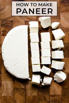 Ever wondered how to make paneer? This paneer recipe is a simple step-by-step guide on how you can make this fresh Indian cheese at home. #stepbystep #vegetarian #homemade #indian #paneer #cheese Paneer Recipes, Indian Food Recipes, New Recipes, Vegetarian Recipes, Favorite Recipes, Asian Recipes, Delicious Recipes, Fancy Recipes, Fancy Desserts
