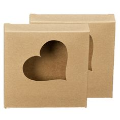Pretty brown paper boxes for gifting your cookies.
