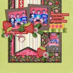 So sweet by @Melissa Brown Carlson-Strand   Berry Sweet Kit (free for a limited time) from Peppermint Creative