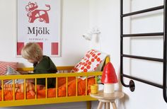 Orange room with a dash of red