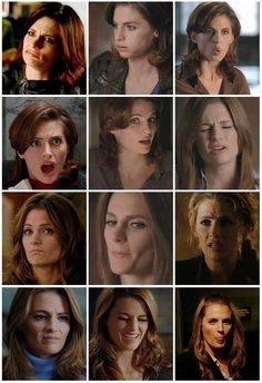 Many faces of Kate Beckett(StanaKatic) Castle 2009, Castle Abc, Castle Series, Castle Tv Shows, Fashion Fail, Funny Fashion, Ski Fashion, Richard Castle, Castle Beckett