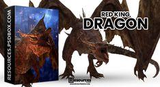Free Logo Templates, Fantasy Dragon, Photoshop Brushes, Free Stock Photos, Free Design, Design Projects, Moose Art, King, Red