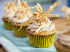 Get Churro Cupcakes Recipe from Food Network Tried them and they do taste just like churros!  Delish!