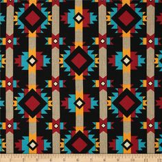 Hopi Trail Small Hopi Stripe Black from @fabricdotcom  Designed by Whistler Studios for Windham Fabrics.