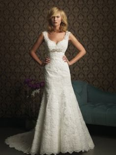 Allure Bridals 8770 Vintage Lace Wedding Dress