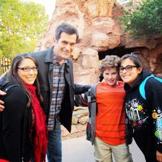 Ty Burrell from Modern Family at Disneyland yesterday