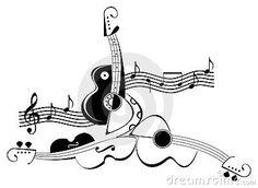 disegni strumenti musicali stilizzati - Cerca con Google
