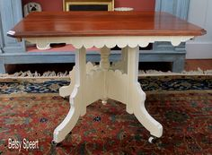 Betsy Speert's Blog:painting a Victorian gingerbread table in Chalk Paint