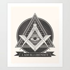 I am illuminati Art Print by Daniela Dix - $16.00