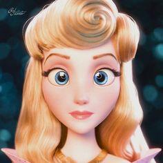 Princess Aurora from Ralph breaks the Internet 💖 ___ from Disney Artist ✨ ・・・A closer glimpse at the level of detail… Disney Pocahontas, Princesa Disney Aurora, Disney Princess Aurora, Disney Cute, Cute Disney Pictures, Disney Girls, Disney E Dreamworks, Disney Movies, Disney Characters