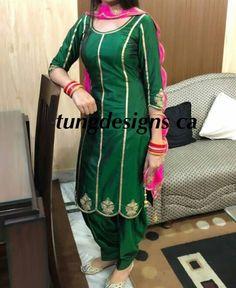 @AMAN❤ Embroidery Suits Punjabi, Embroidery Suits Design, Chudidhar Designs, Blouse Designs, Dress Designs, Designer Punjabi Suits, Indian Designer Outfits, Suit Fashion, Women's Fashion Dresses