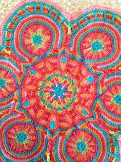 Free Overlay Crochet Mandala Patterns | Ravelry: Monkeyjack's Cushion motif | Doily / Coaster / Motif