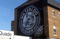 Uptown Waterloo - mural for Waterloo Dark, a great local brew!!