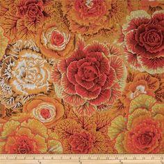 Rowan Fabrics - Brassica Brown Floral Broadcloth