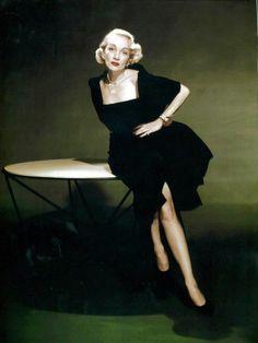 Marlene Dietrich wearing Christian Dior 1947